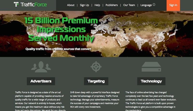 TrafficForce 广告联盟