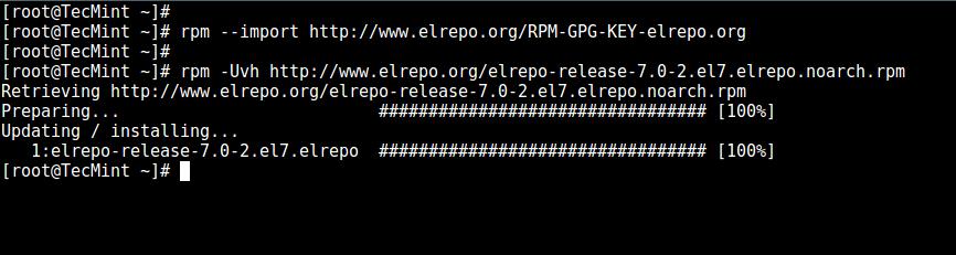 CentOS 7 上启用 ELRepo 仓库