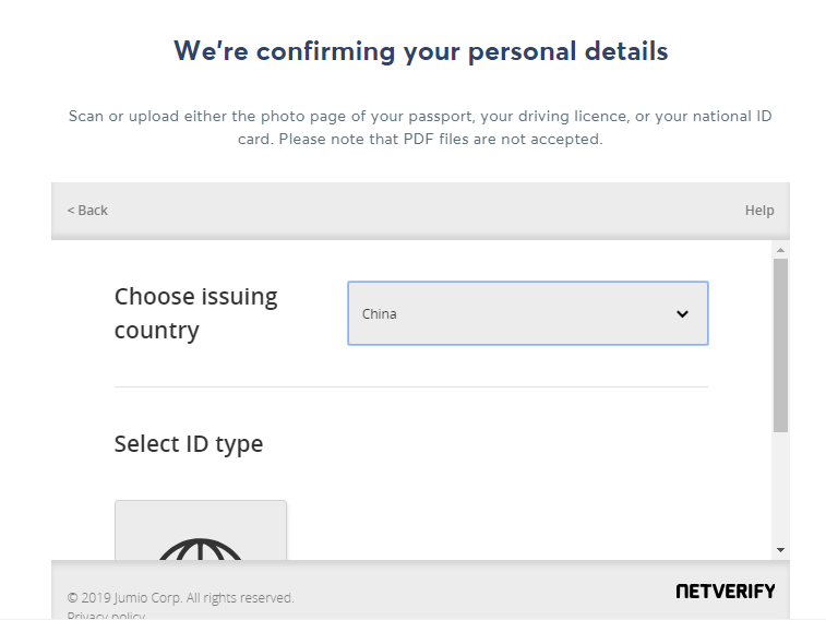 TransferWise 上传身份证验证身份